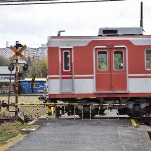 神戸電鉄の踏切