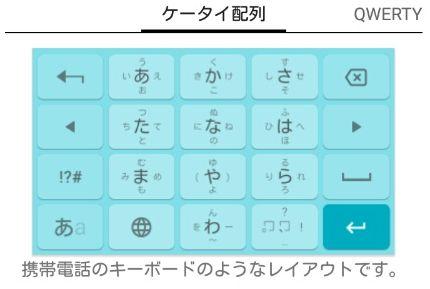 ケータイ配列キーボード