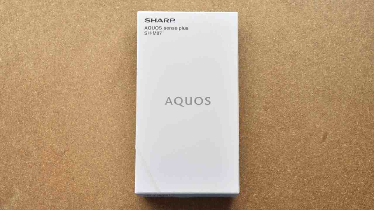 AQUOS sense plus SH-M07外箱