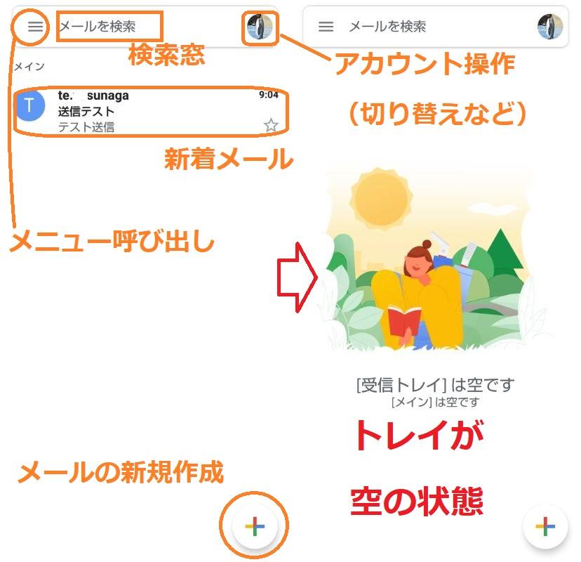 Gmailのメイン画面