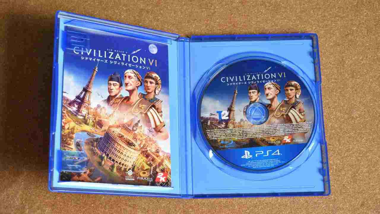 PS4版シヴィライゼーション6のパッケージ