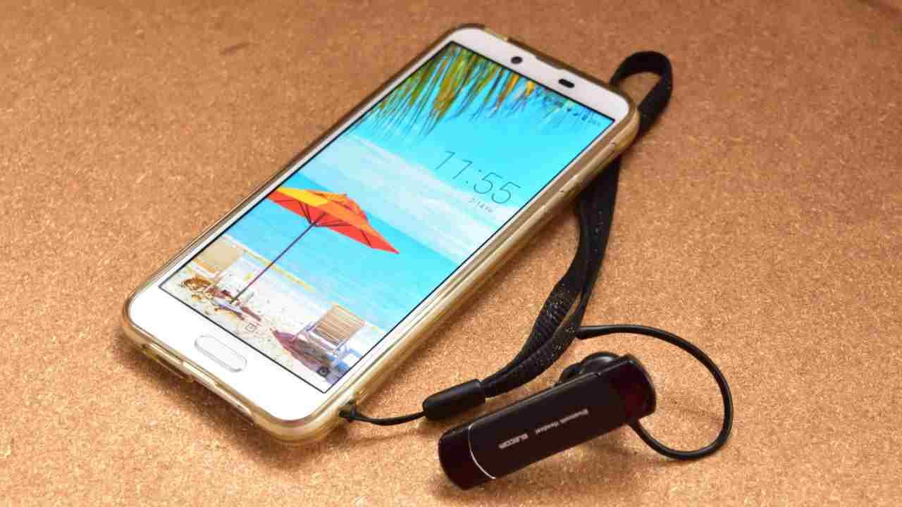 スマートフォンとBluetoothヘッドセット
