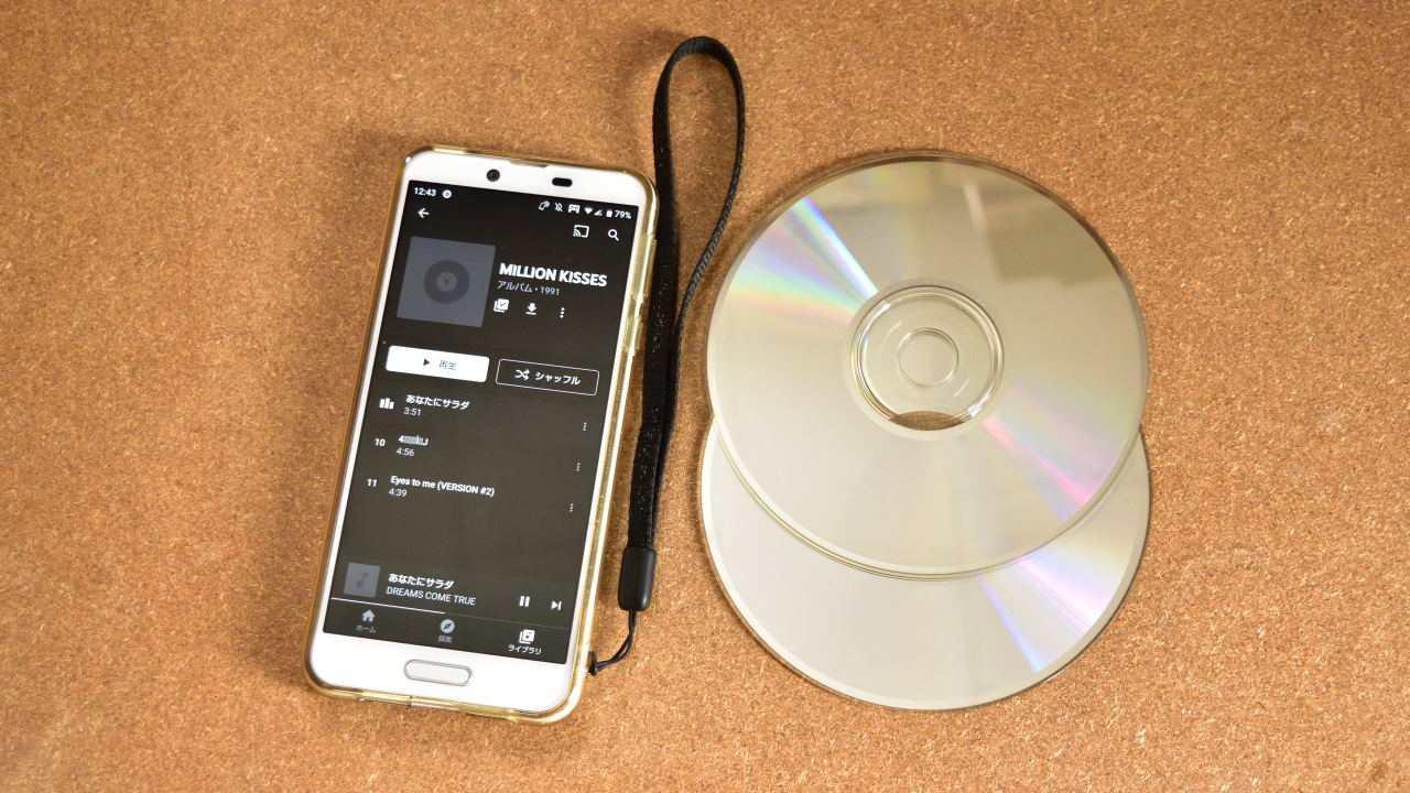 スマートフォンとCD