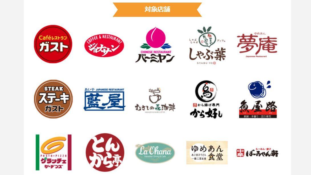 キャンペーン対象店舗のロゴ