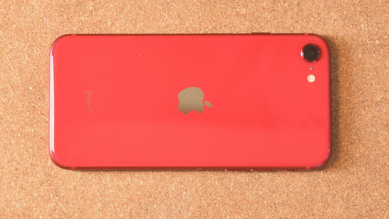 iPhone SEの背面